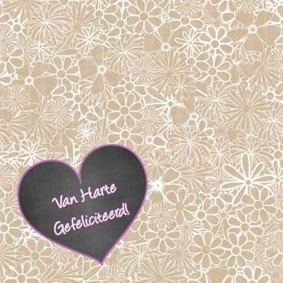 Felicitatie hart bloemen trendy 2