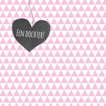 Felicitatie hart driehoek roze 2