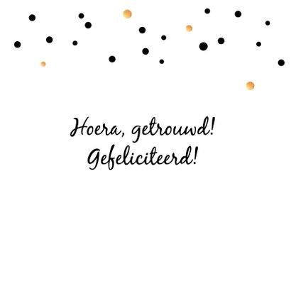 Felicitatie -Hart goud, stippen 3