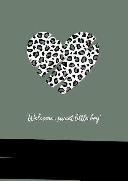 Felicitatie - Hart met luipaard print  2
