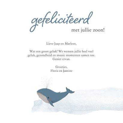 Felicitatie - hello little boy walvis geboorte 3