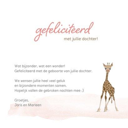 Felicitatie - hello little girl giraf 3