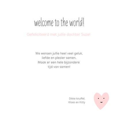 Felicitatie - hello little girl hartje 3