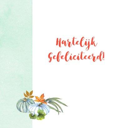 Felicitatie herfsttafereel kalebas 2
