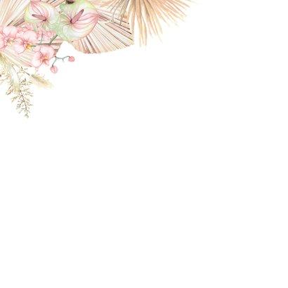 Felicitatie huwelijk droogbloemen orchidee 2