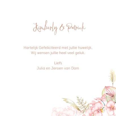 Felicitatie huwelijk droogbloemen orchidee 3