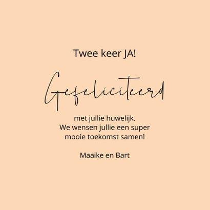 Felicitatie huwelijk Jaaaa this says it all 3