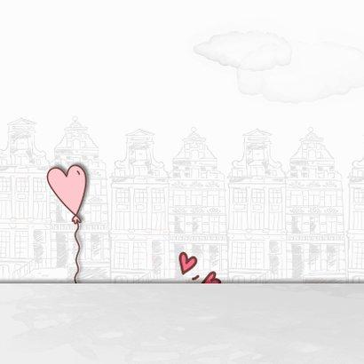 Felicitatie huwelijk trouwauto-blikken 2
