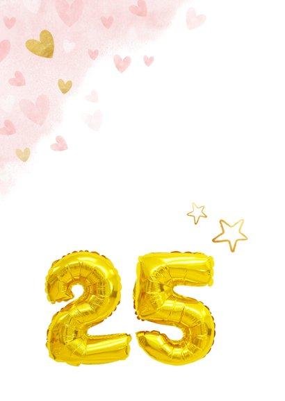 Felicitatie huwelijksjubileum 25 jaar gouden cijferballon 2