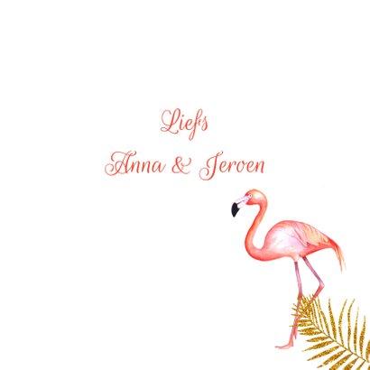 Felicitatie huwelijksjubileum flamingostel 3