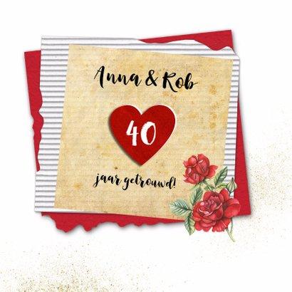 Felicitatie huwelijksjubileum roos 2