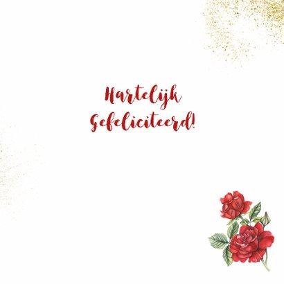 Felicitatie huwelijksjubileum roos 3