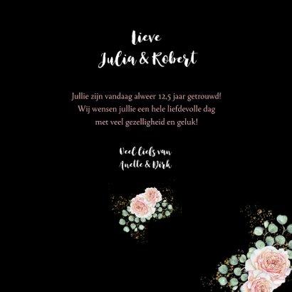 Felicitatie huwelijksjubileum rozen hart 3