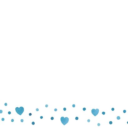 Felicitatie jongen blauw hart 3
