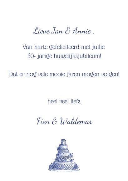 felicitatie Jubileum bruidstaart en bloemen 3