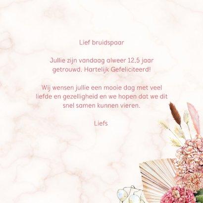 Felicitatie jubileum hortensia droogbloemen 3
