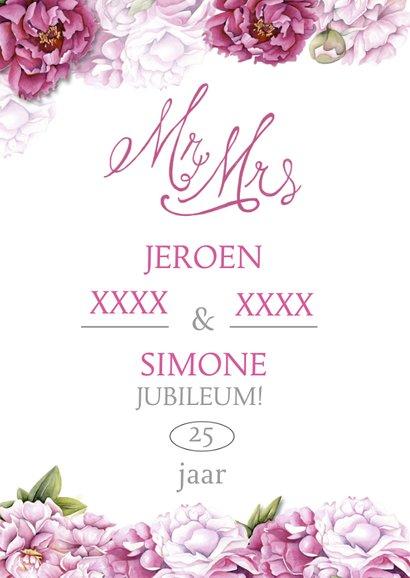 Felicitatie jubileum huwelijk  2