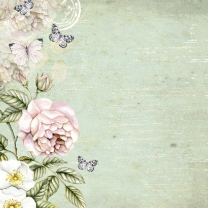 felicitatie jubileum vintage bloemen 2