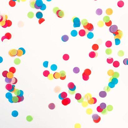 Felicitatie kaart 1 jaar confetti 2