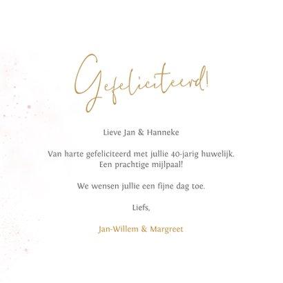 Felicitatie kaart 40 jarig huwelijk ballonnen 3