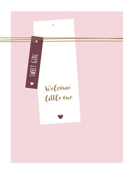 Felicitatie kaart label met lijnen en hartjes  2
