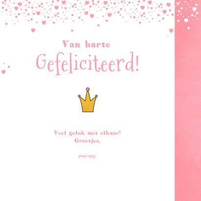 Felicitatie kaartje lief prinsesje wolken en hartjes 3