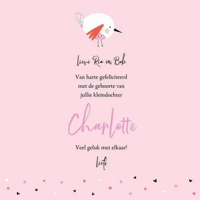 Felicitatie kleindochter vogel bloemen 3