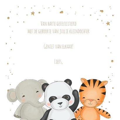 Felicitatie kleinkind - jungledieren met confetti 3