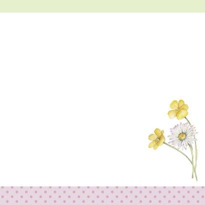 Felicitatie konijn met bloemen 3