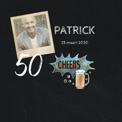 Felicitatie krijtbord bier 2