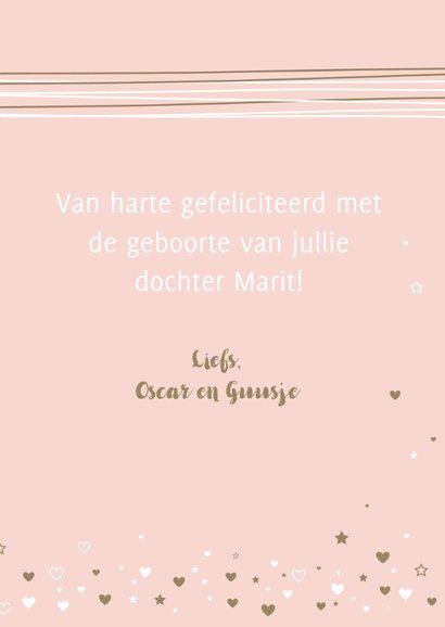 Felicitatie - Lijnen, harten, label, girl 3