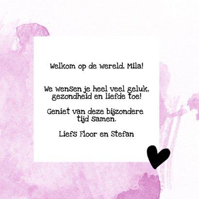 Felicitatie - lovely little one met naam roze 3