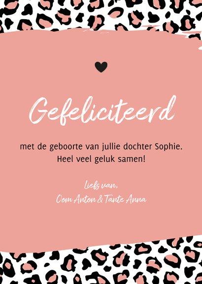 Felicitatie - Luipaard print zalmroze 3