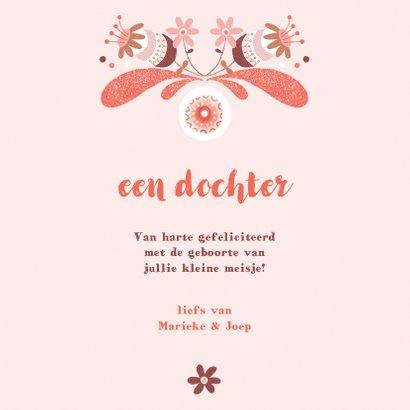 Felicitatie meisje baby roze - MW 3