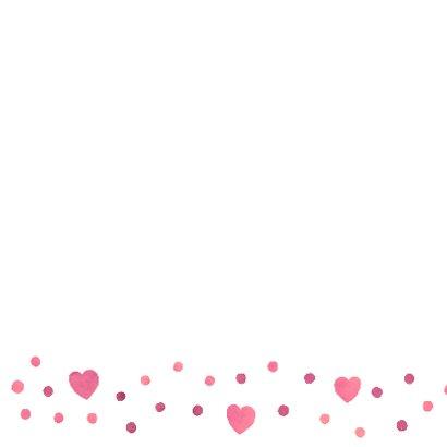 Felicitatie meisje roze hart 2