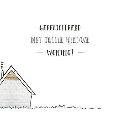 Felicitatie met illustratie van een klein schattig huisje 2