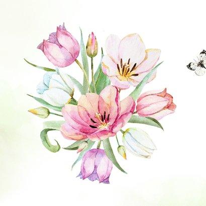 Felicitatie met tulpenboeket 2