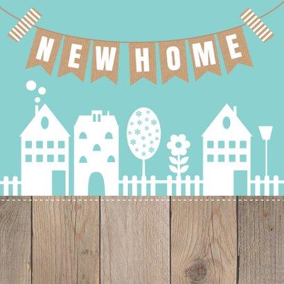 Felicitatie nieuwe woning huisjes slinger 2