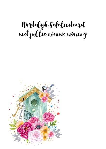 Felicitatie nieuwe woning vogelhuisje 2