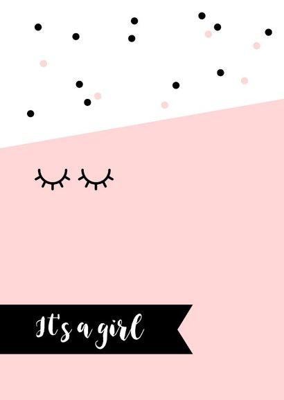 Felicitatie - Oogjes en stippen meisje 2