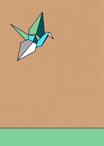 Felicitatie origami vogel zoon 2