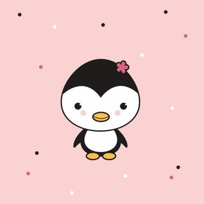 Felicitatie - Pinguïn meisje 2