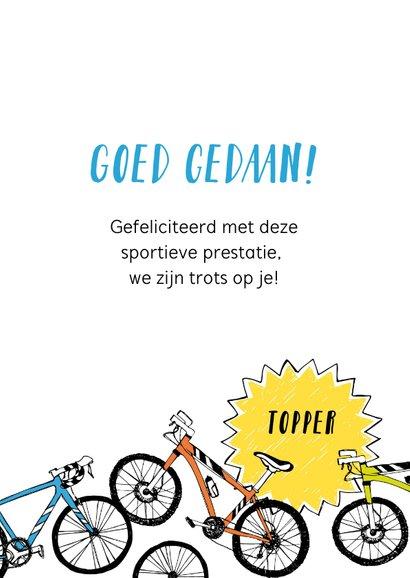 Felicitatie prestatie fietsen 3