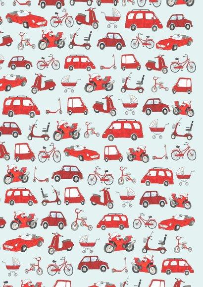 Felicitatie rode voertuigen 2