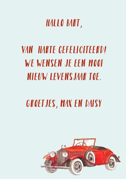 Felicitatie rode voertuigen 3