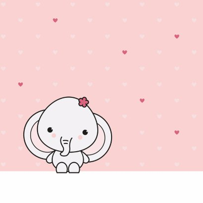 Felicitatie - Schattig olifantje meisje 2