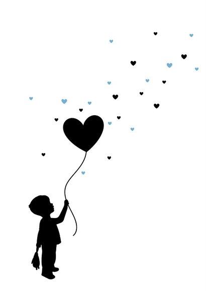 Felicitatie - Silhouet jongen met ballon 2