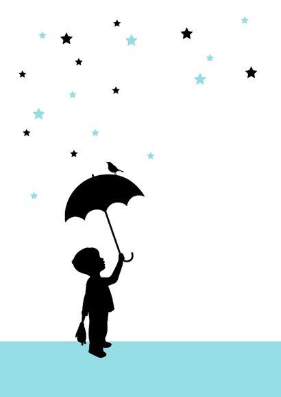Felicitatie - Silhouet jongen met paraplu 2