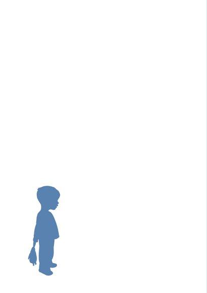Felicitatie - Silhouet jongen 2