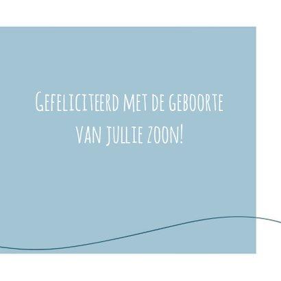 Felicitatie - Simpe hart blauw 3